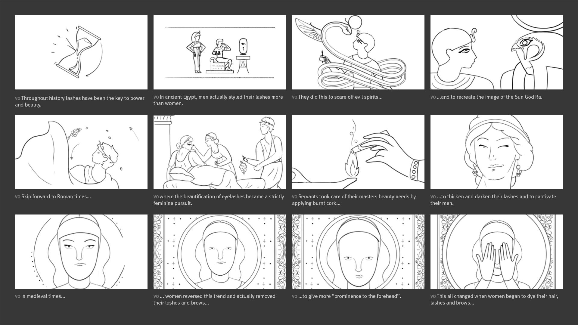 Revitalash - Throughout Time Storyboard 01