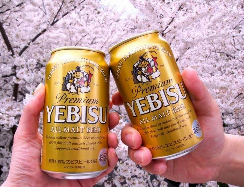"""Yebisu beer. - Source: sapporobeer.jp/  Fun trivia fact - the character/sound """"YE"""" (YEH) doesn't exist in the Japanese language today."""