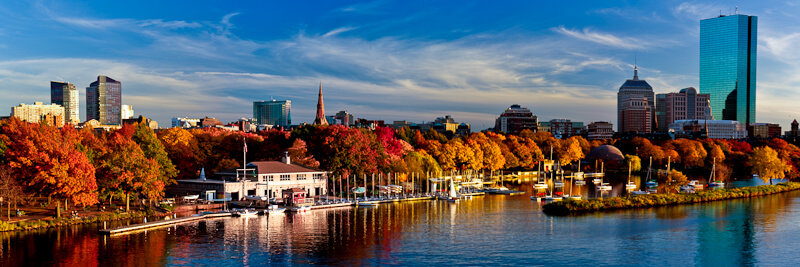 View of the Charles River in Boston, MA