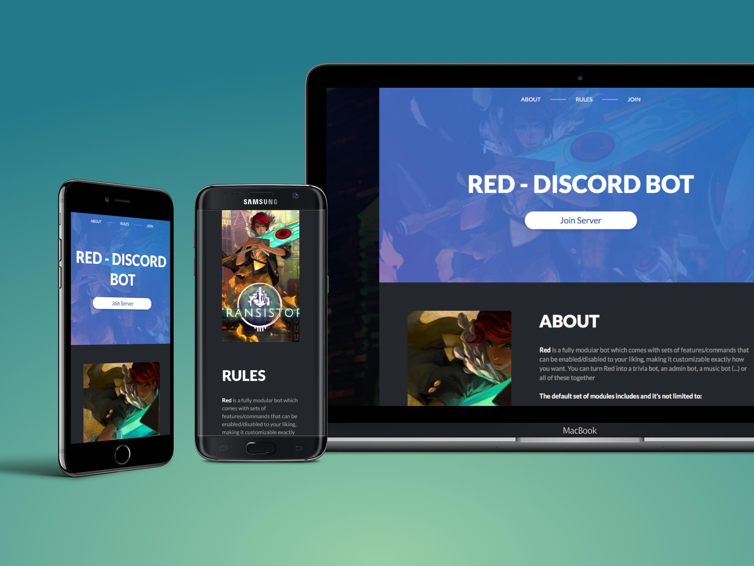 Free Discord server landing page — orels1