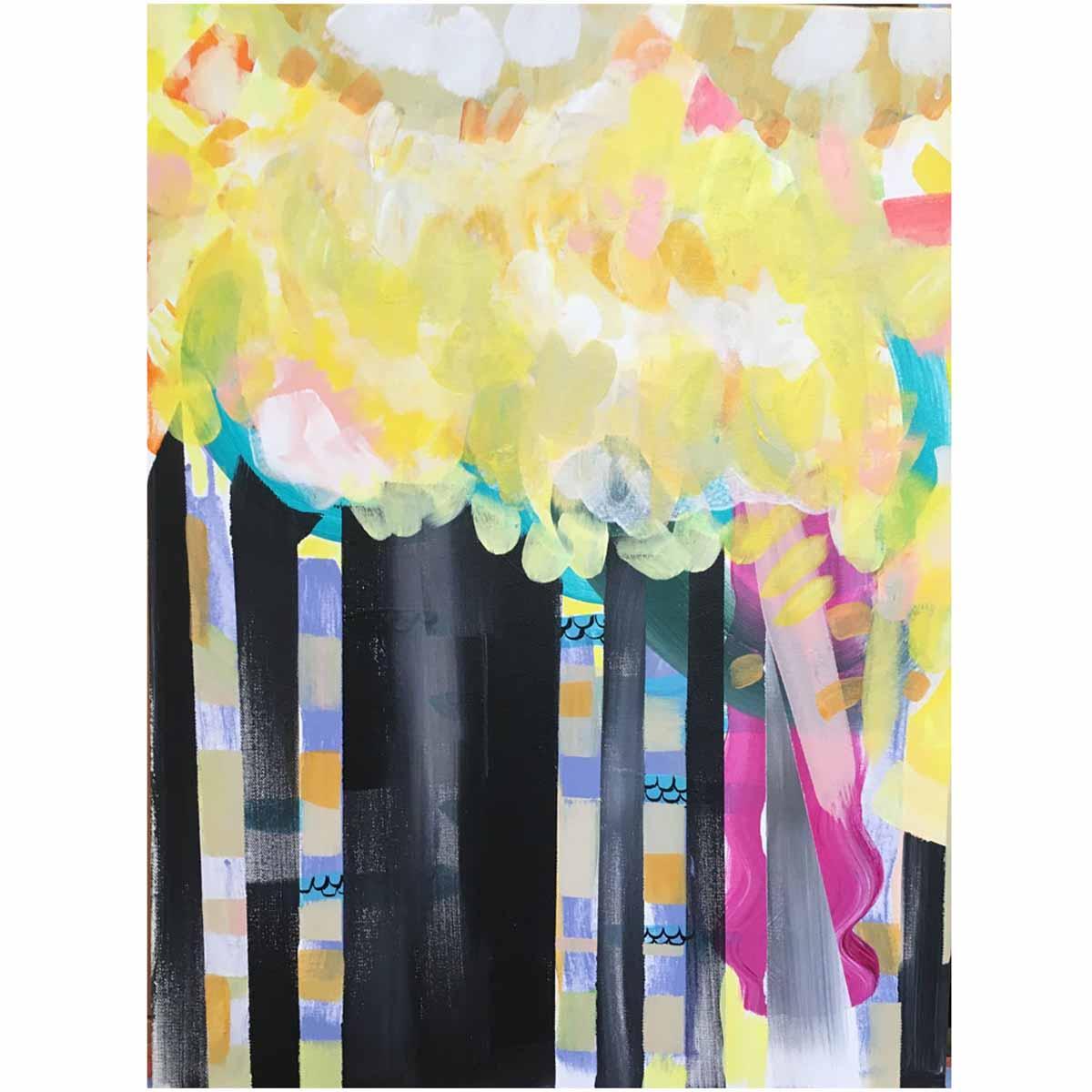 "A New Path Always Shines, 18x24"", Acrylic on Canvas"