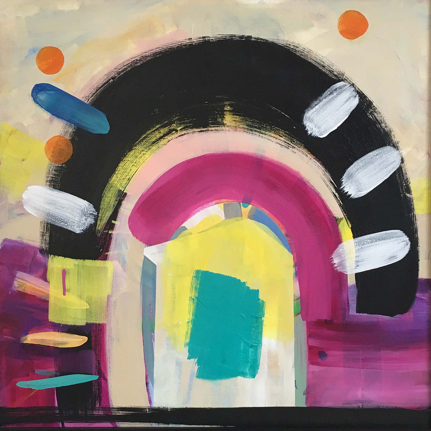 bold and bright abstract painting