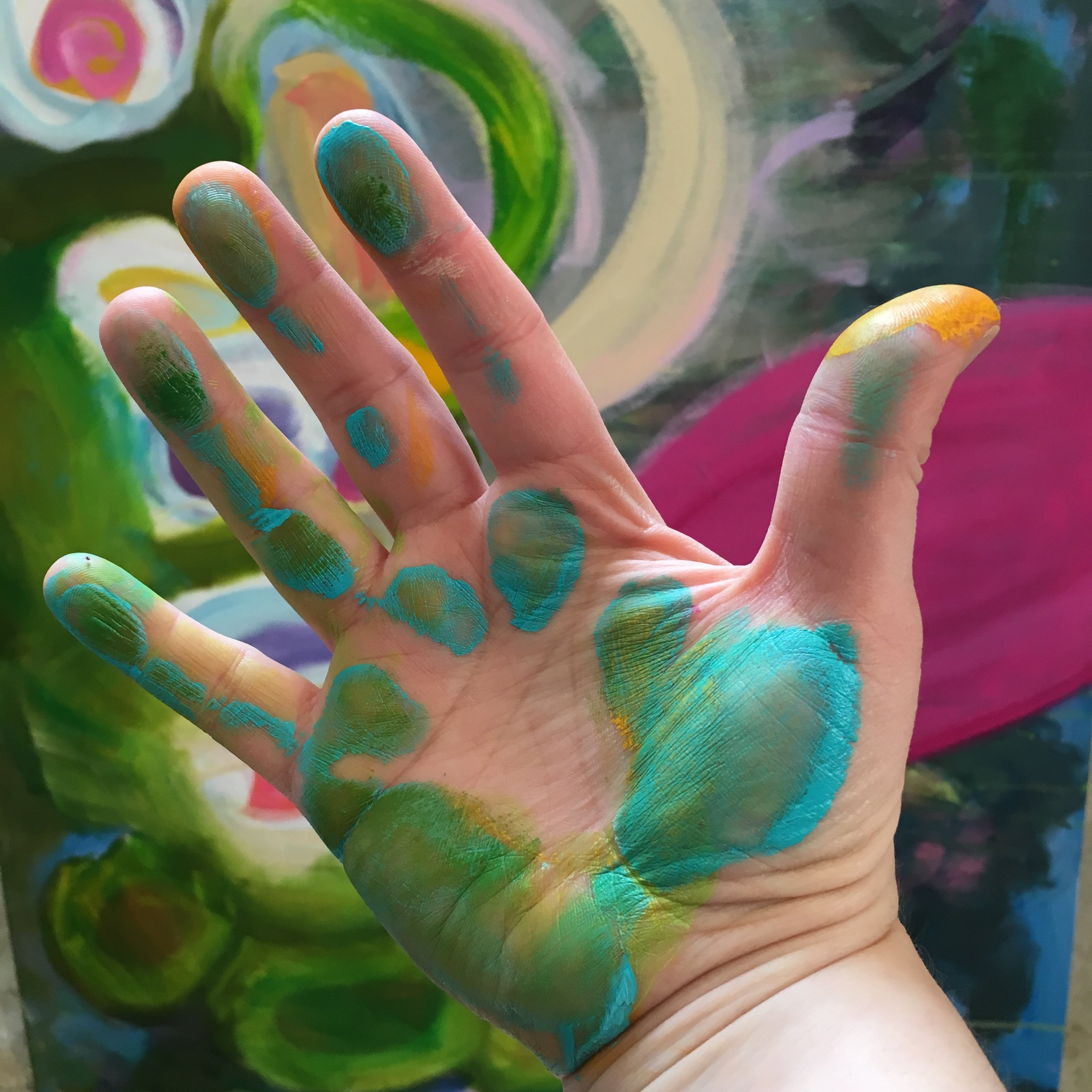 abstract art in hand