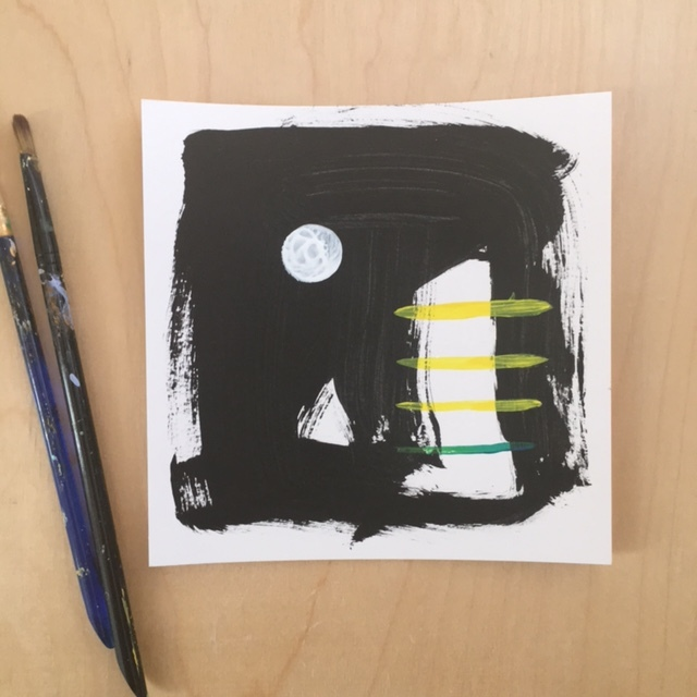 Bold Small Abstract Painting