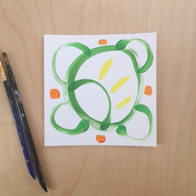 Turtle Abstract Painting