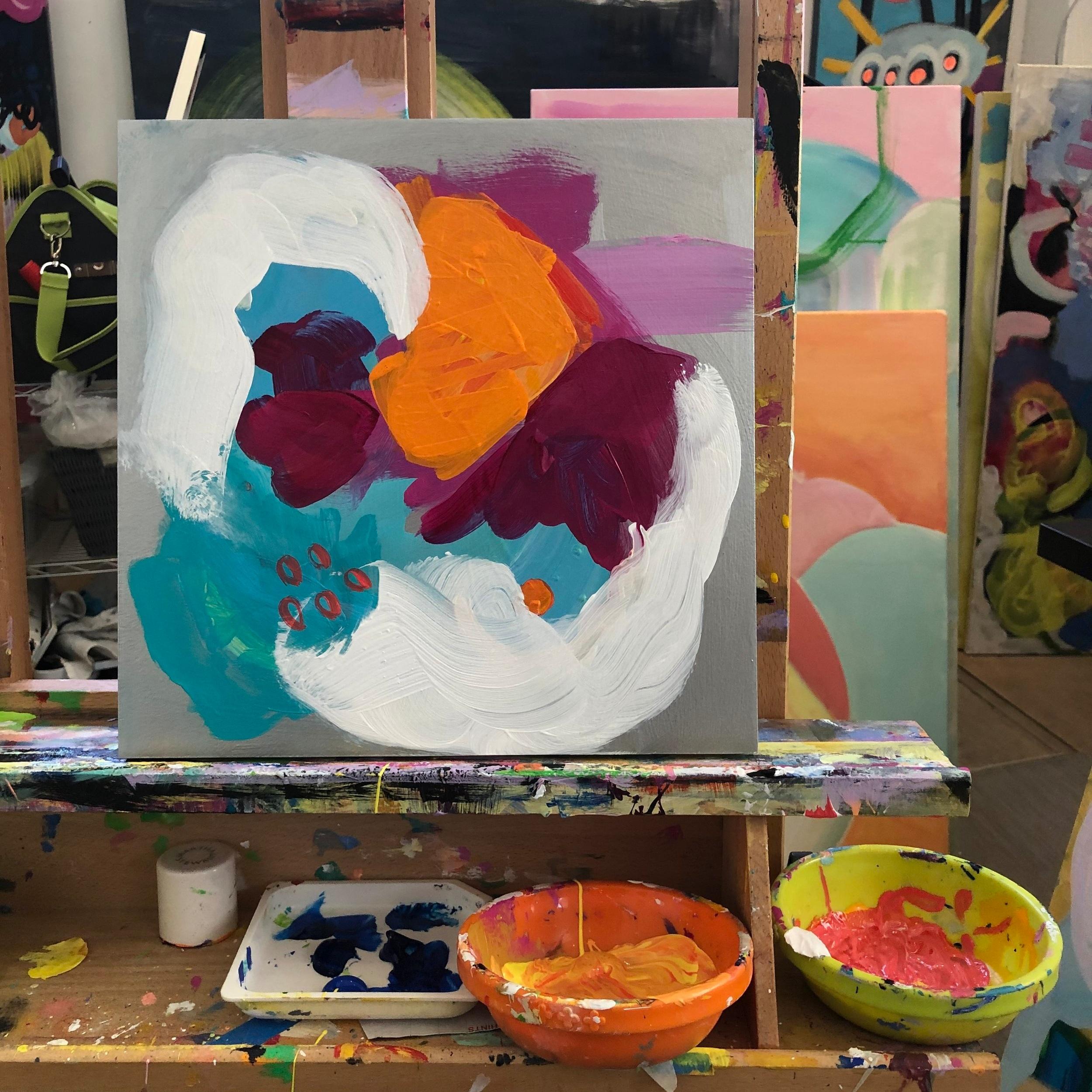 Bold Abstract In Progress. Amantha Tsaros Studio
