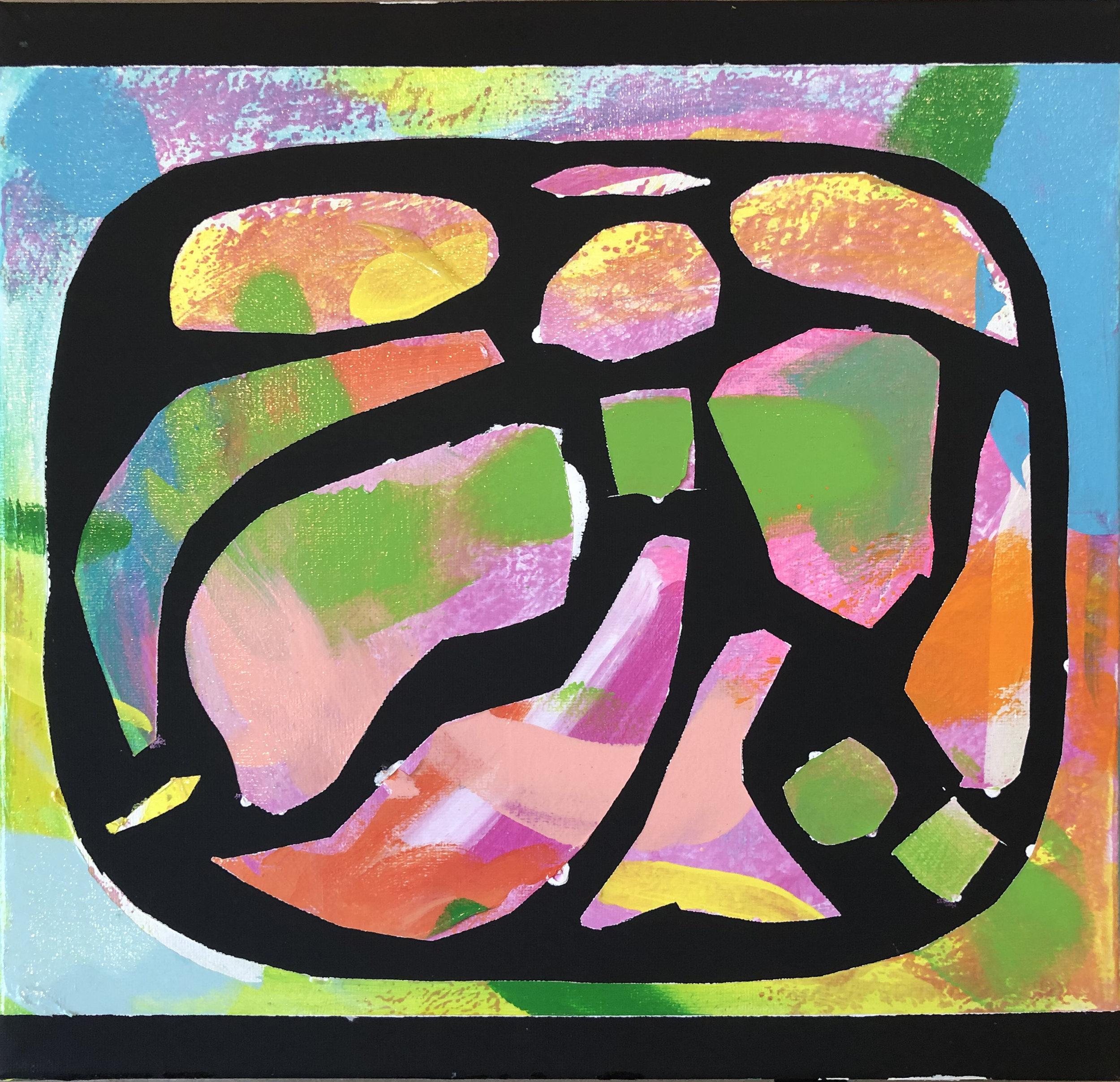 "Candy Dish , 12"" x 12"" Acrylic on Canvas"
