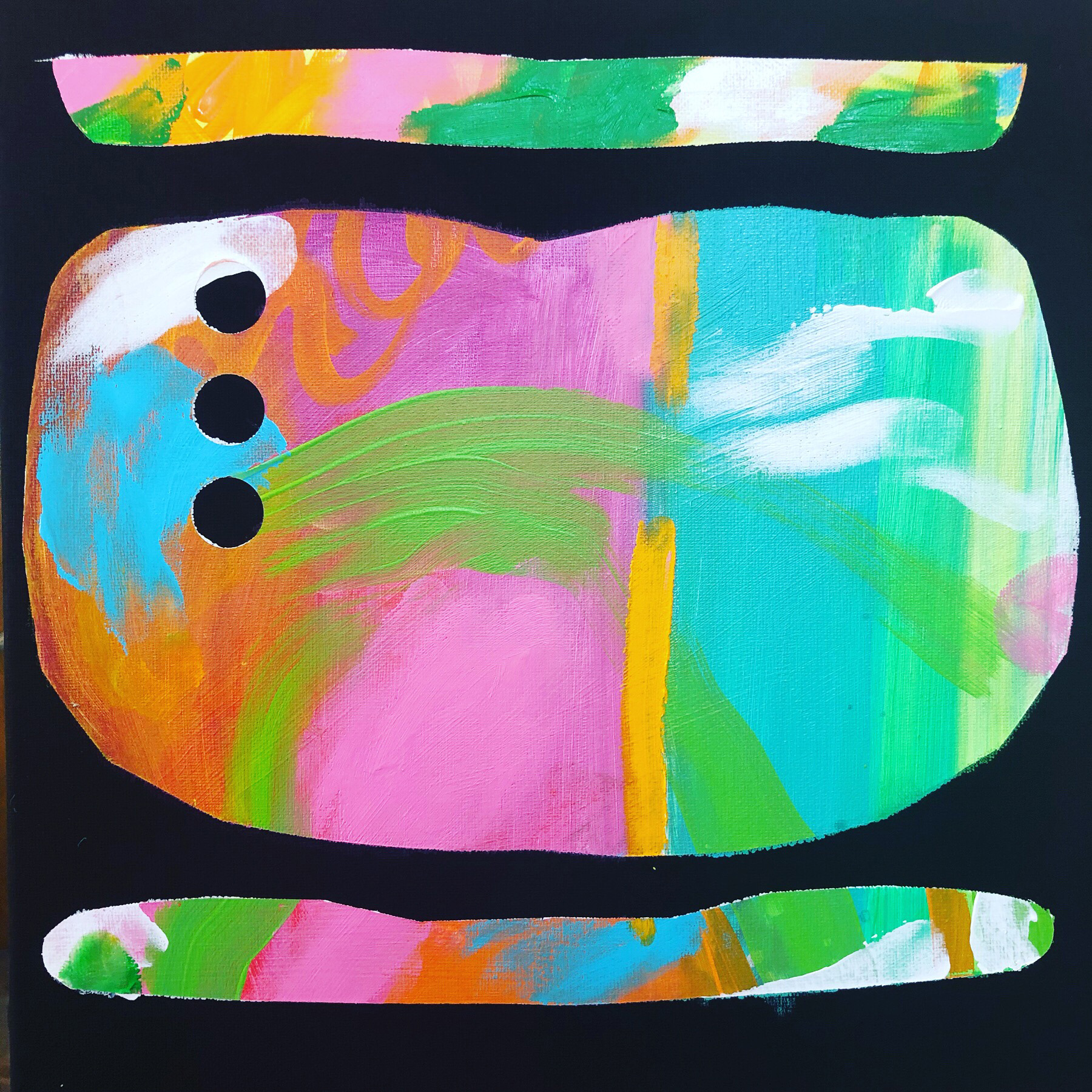 "Triplets , 12"" x 12"", Acrylic on Canvas"