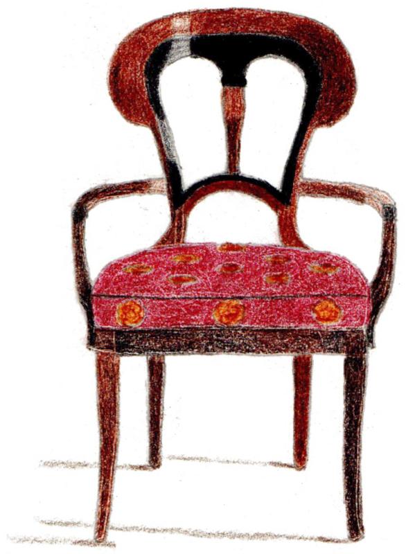 Chair Drawing Tatiana Hisel Interior Design