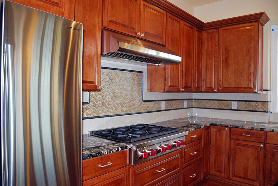 Kapadia Kitchen Appliances and Tile Backsplash- Tatiana Hisel Interior Design