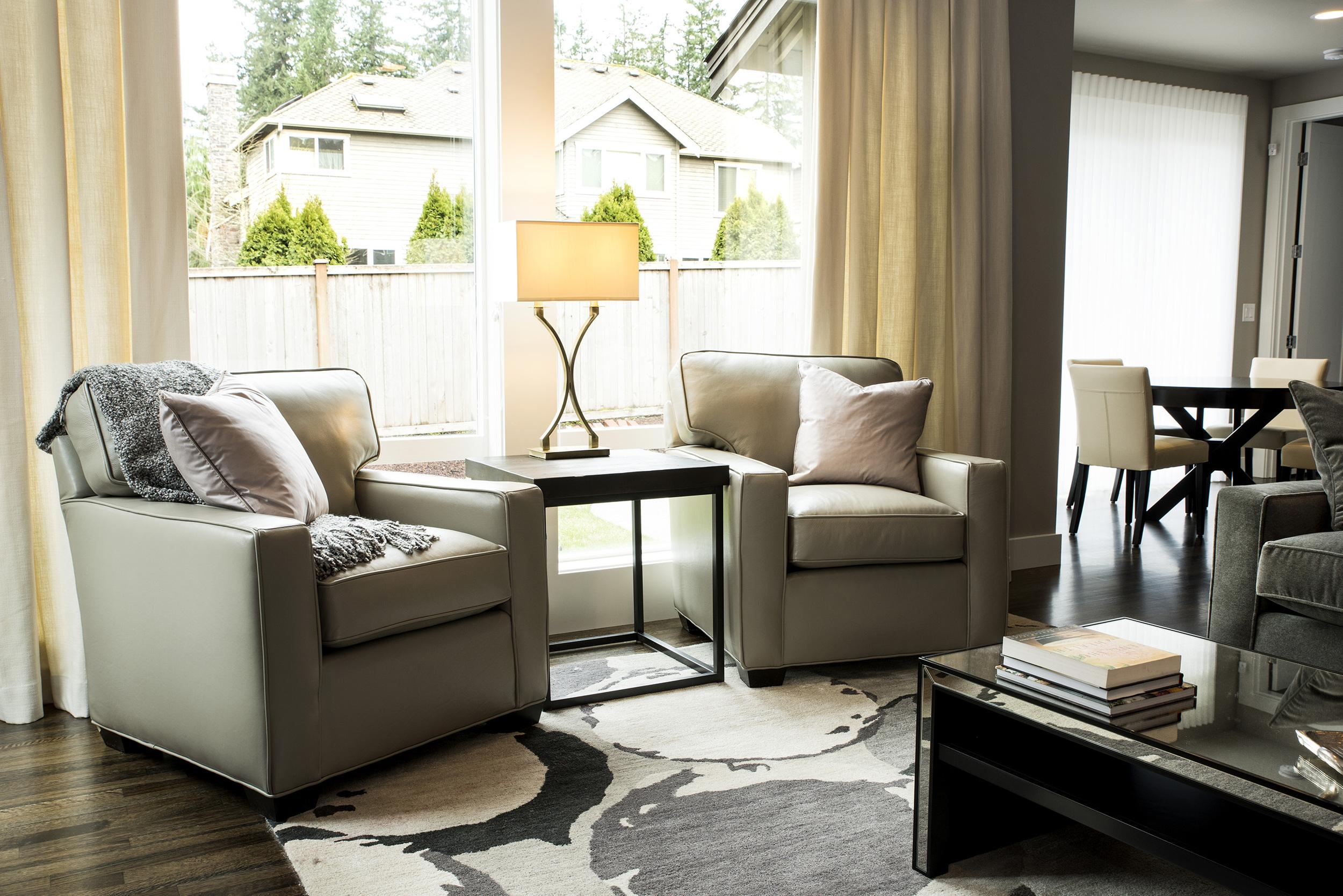 Living space designed by Tatiana Hisel Interior Design