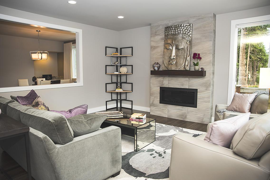 Living space interior design by Tatiana Hisel Interior Design
