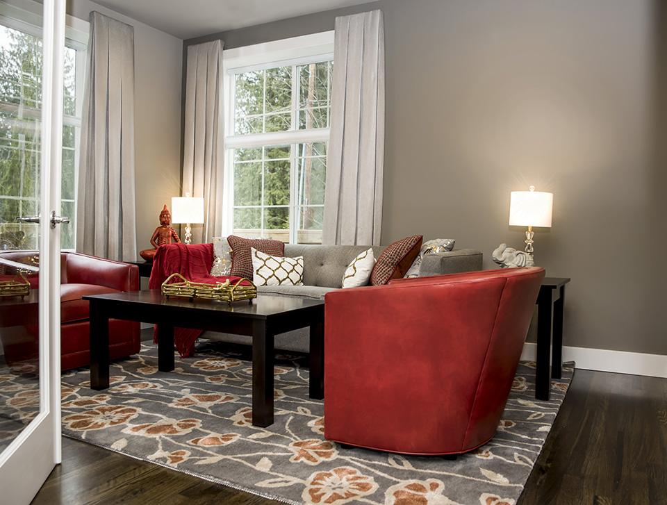 Living area in this beautiful home designed by Tatiana Hisel Interior Design