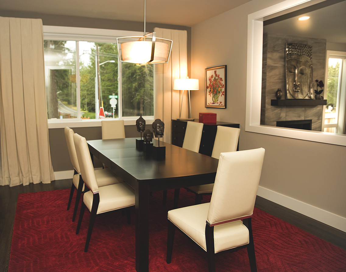 Beautiful dining room designed by Tatiana Hisel Interior Design