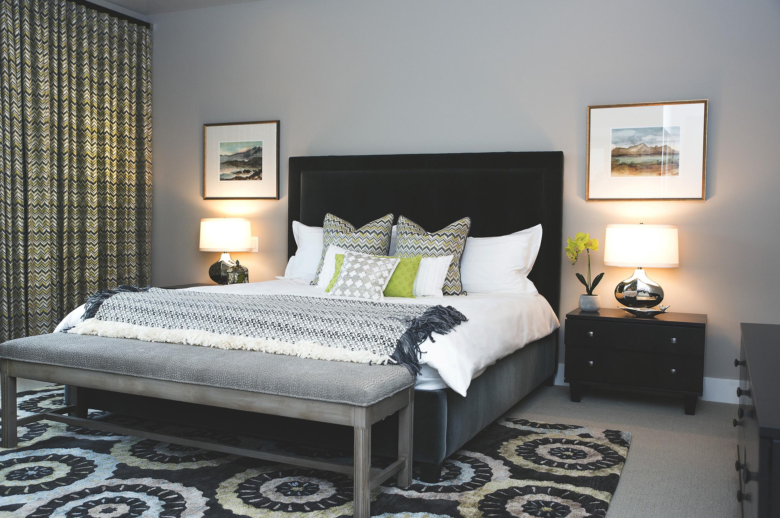 Amazing master bedroom designed by Tatiana Hisel Interior Design