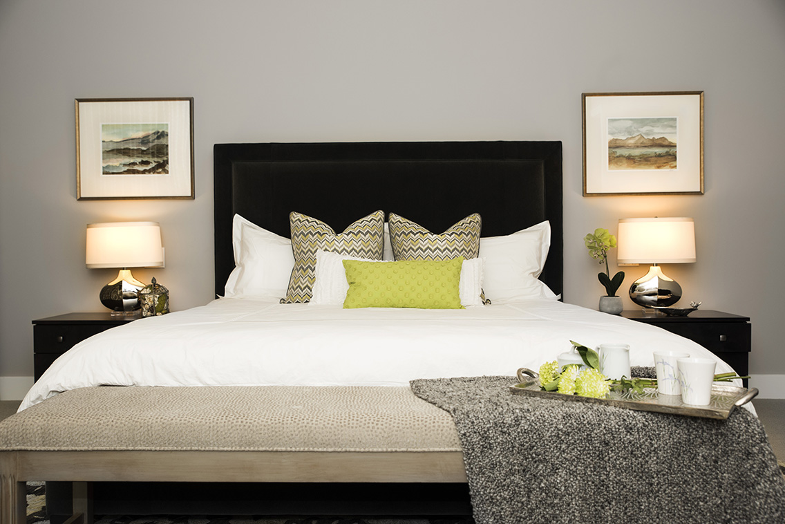 Another view of the luxurious master bedroom designed by Tatiana Hisel Interior Design