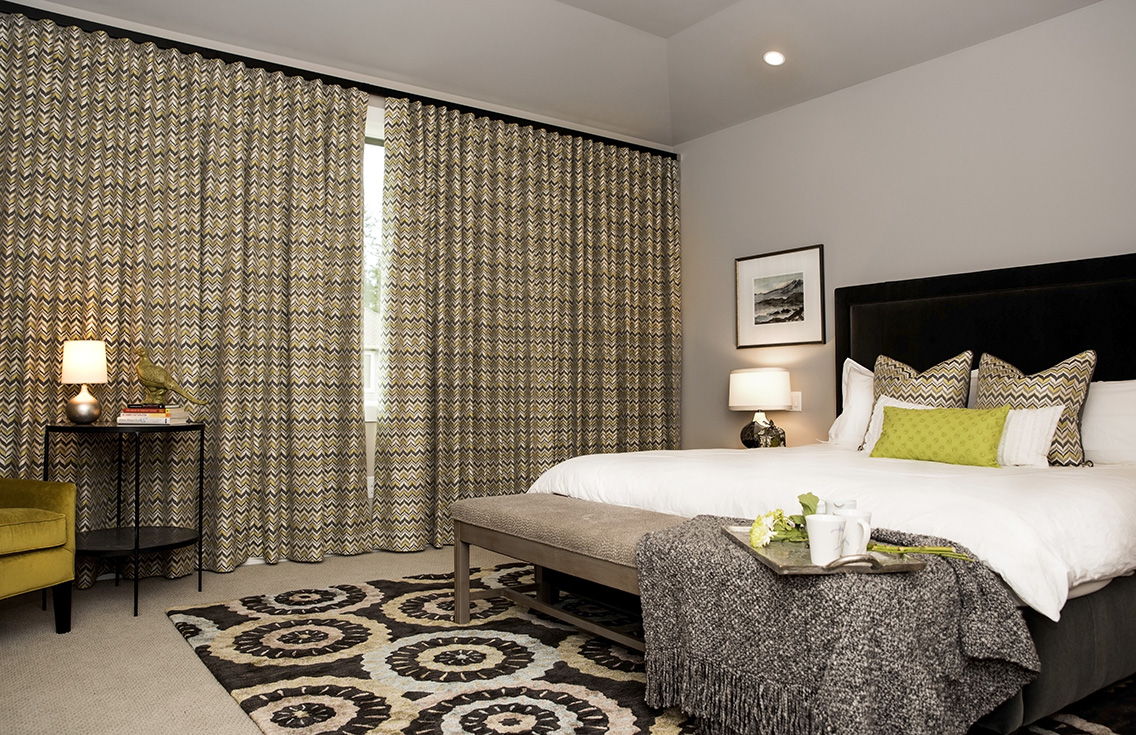 This elaborate master bedroom was designed by Tatiana Hisel Interior Design