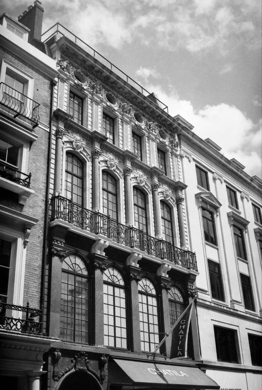Chatila Jewellers, Bond Street, London. (20th July, 2012) //  Minolta Himatic AF2, Ilford XP2 400, Epson V330.// History and heritage of Chatila Jewellers