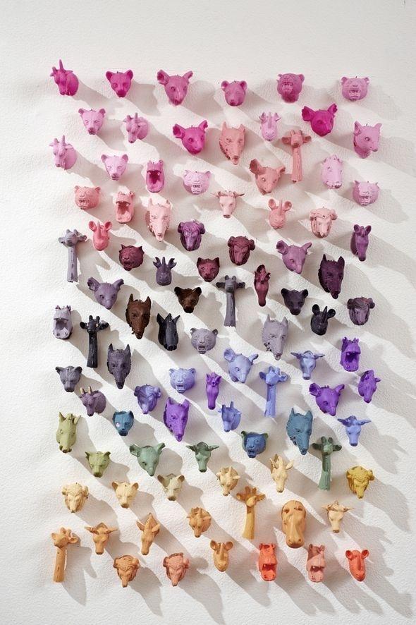 Colourful Animals , Artist Unknown