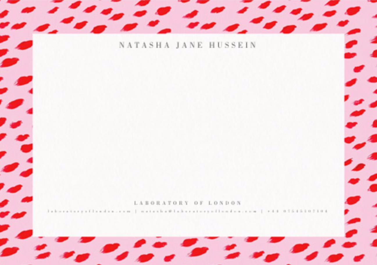 2017 Laboratory c/o Natasha J. Hussein Correspondence cards , by Papier