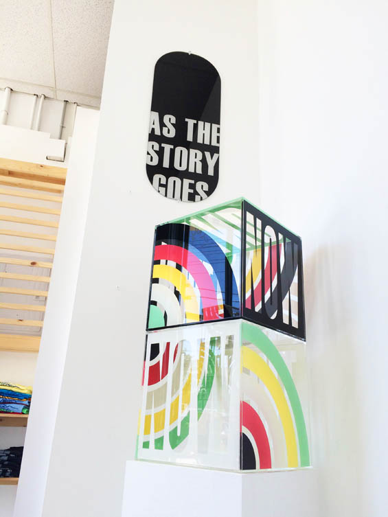 "SUM/PARTS ""As The Story Goes"" - pop art style installation by acrylic artist Kristin Bauer"
