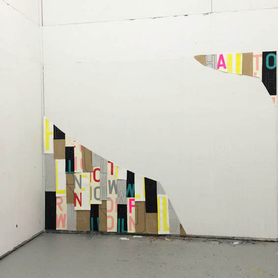 In Residence - text art and text based art installation at Vermont Studio Center