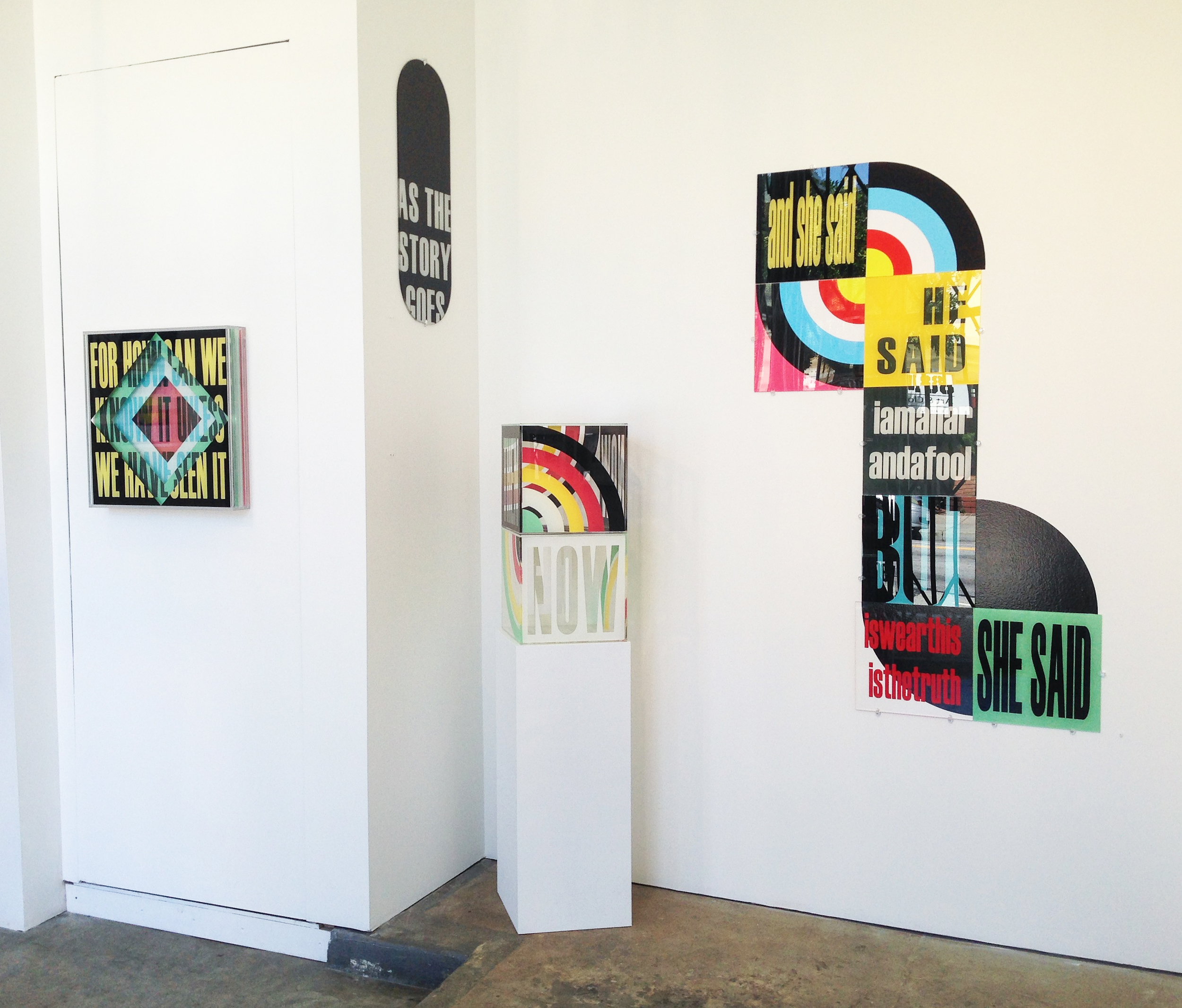 SUM/PARTS - pop art style installation by acrylic artist Kristin Bauer