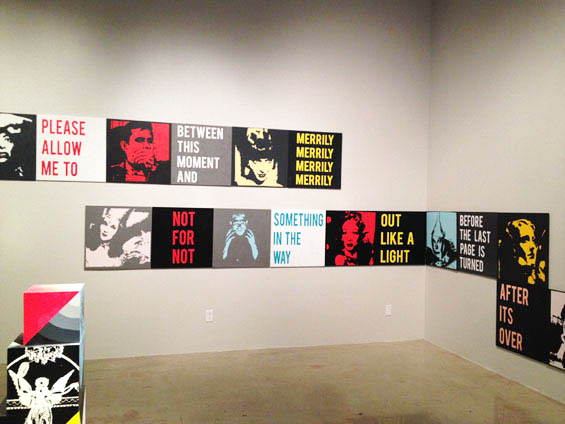 The Give And Take - a text art installation at the Joseph Gross Gallery