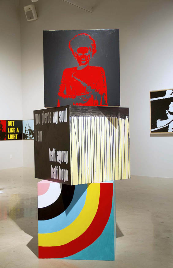The Give And Take detail - a text art installation at the Joseph Gross Gallery