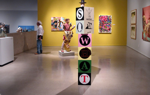 AZ Biennial/PAM - contemporary art installation of sculpture at the Phoenix Art Museum & Arizona Biennial