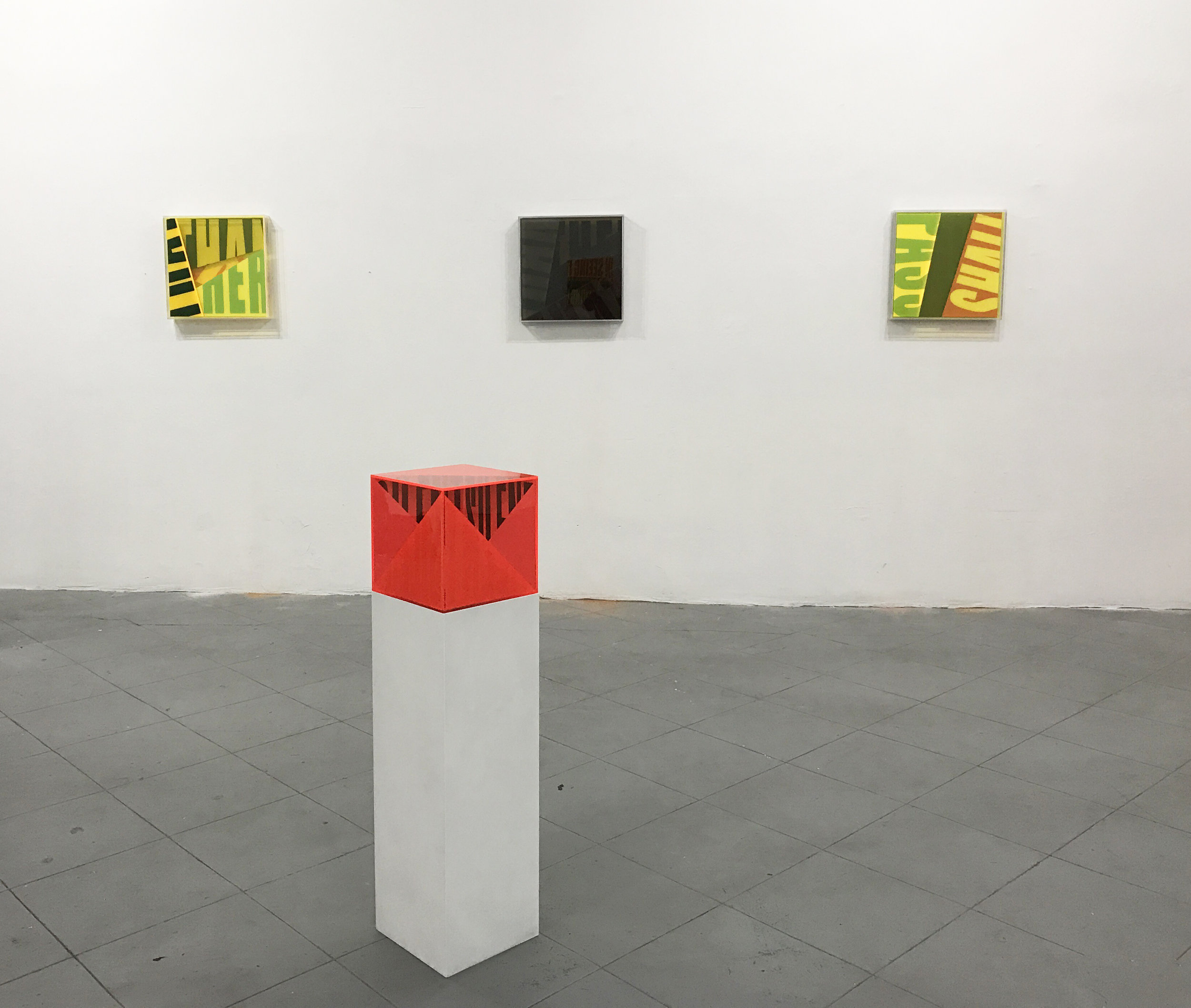 Semantics installation view - acrylic sculptures