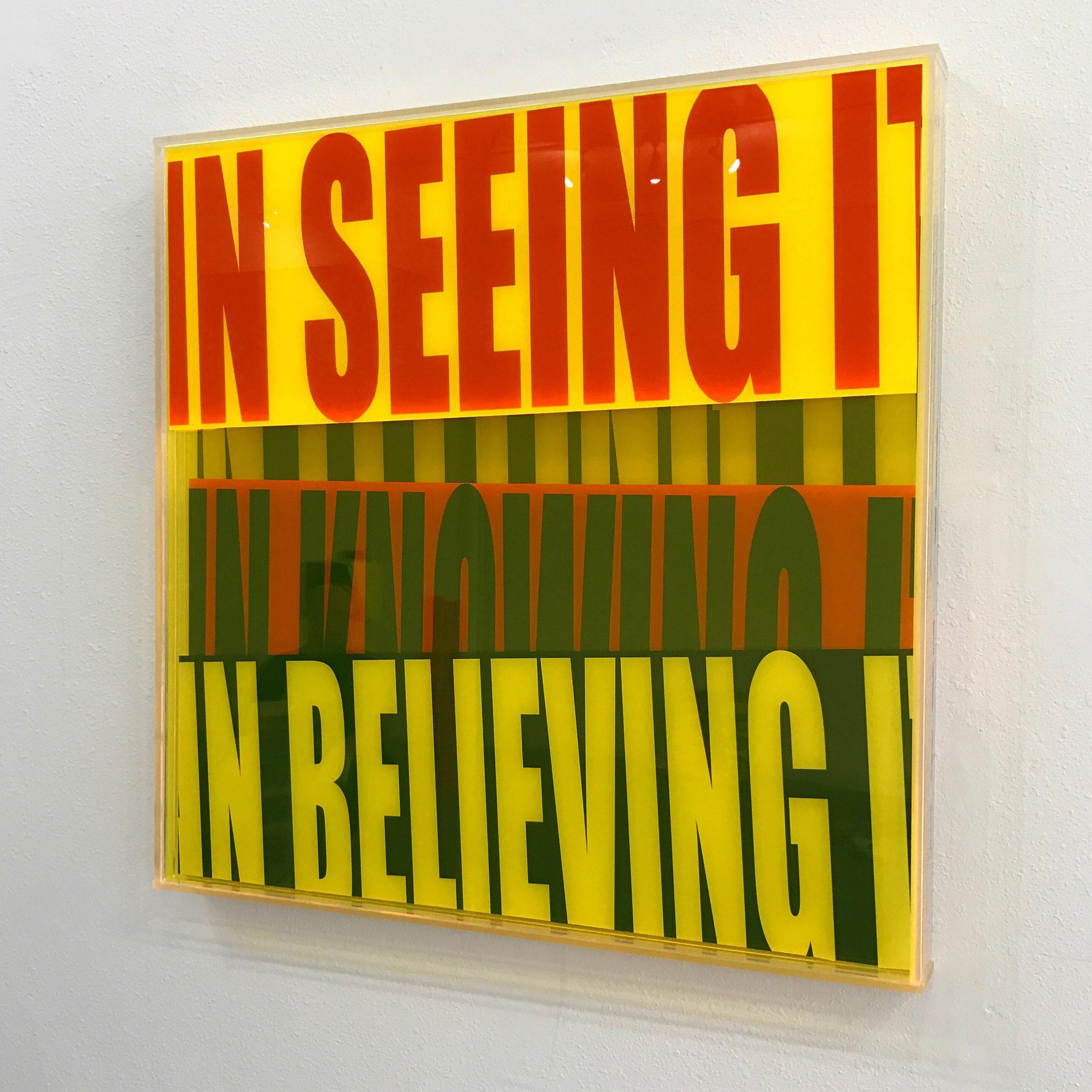 """Semantics """"In Seeing It In Believing It"""" - acrylic sculptures"""
