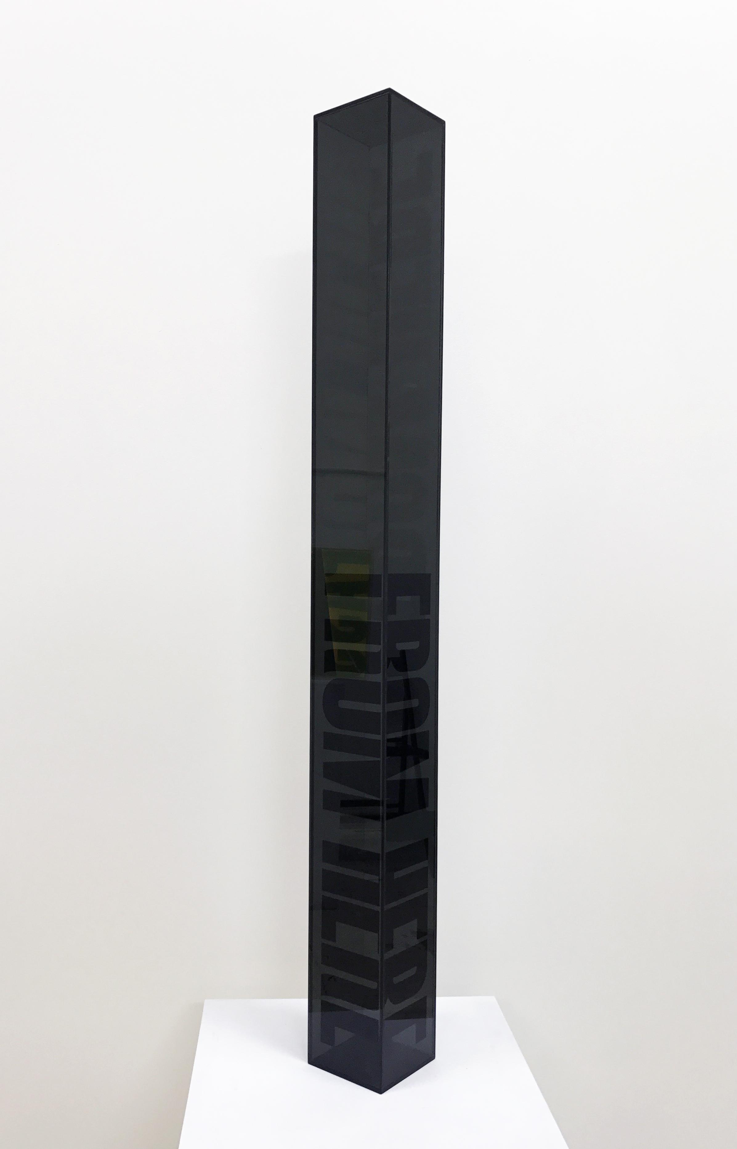 Semantics detail - acrylic sculptures, cubic sculptures
