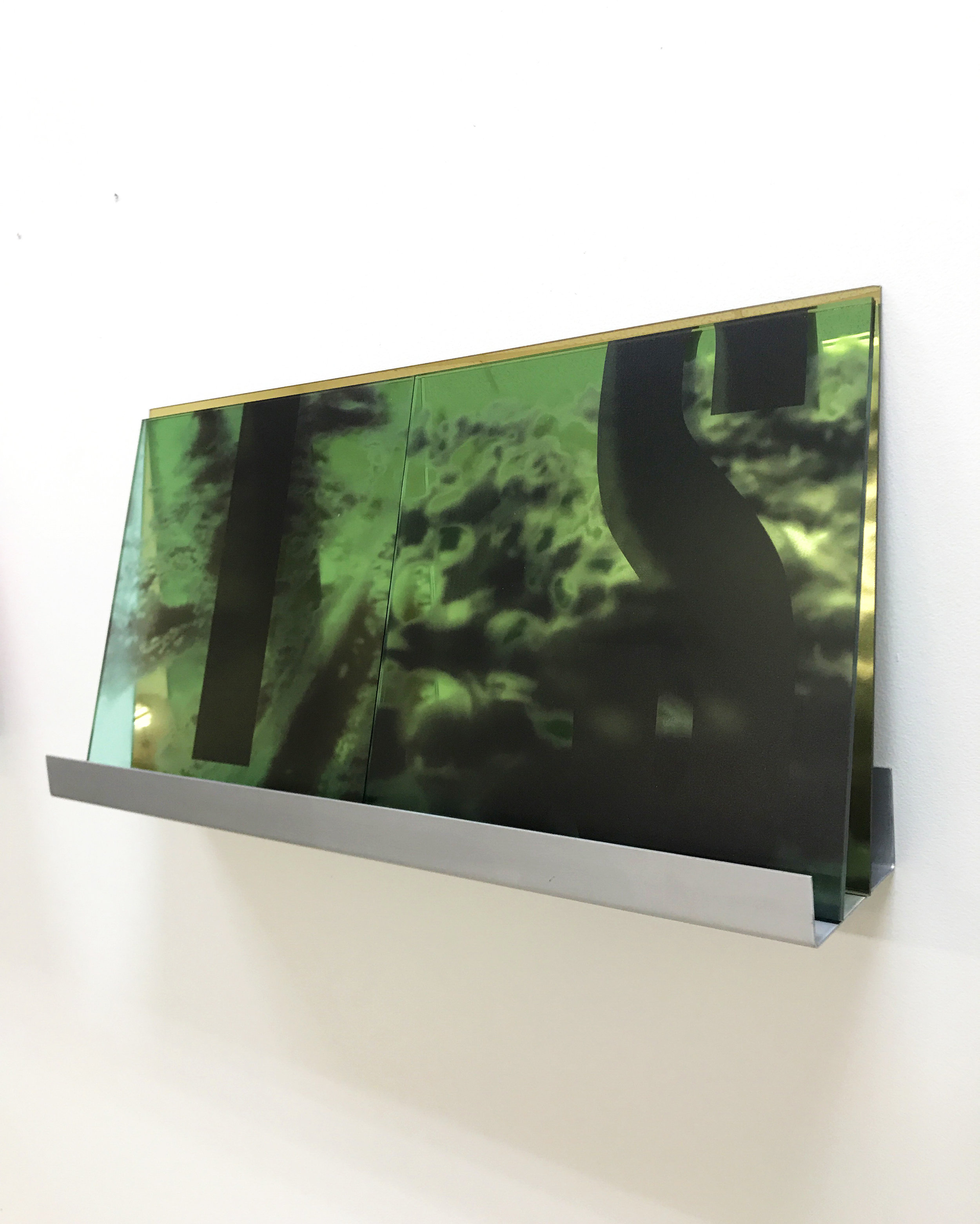 Clear and Present installation - plastic sculpture & plexiglas mirror