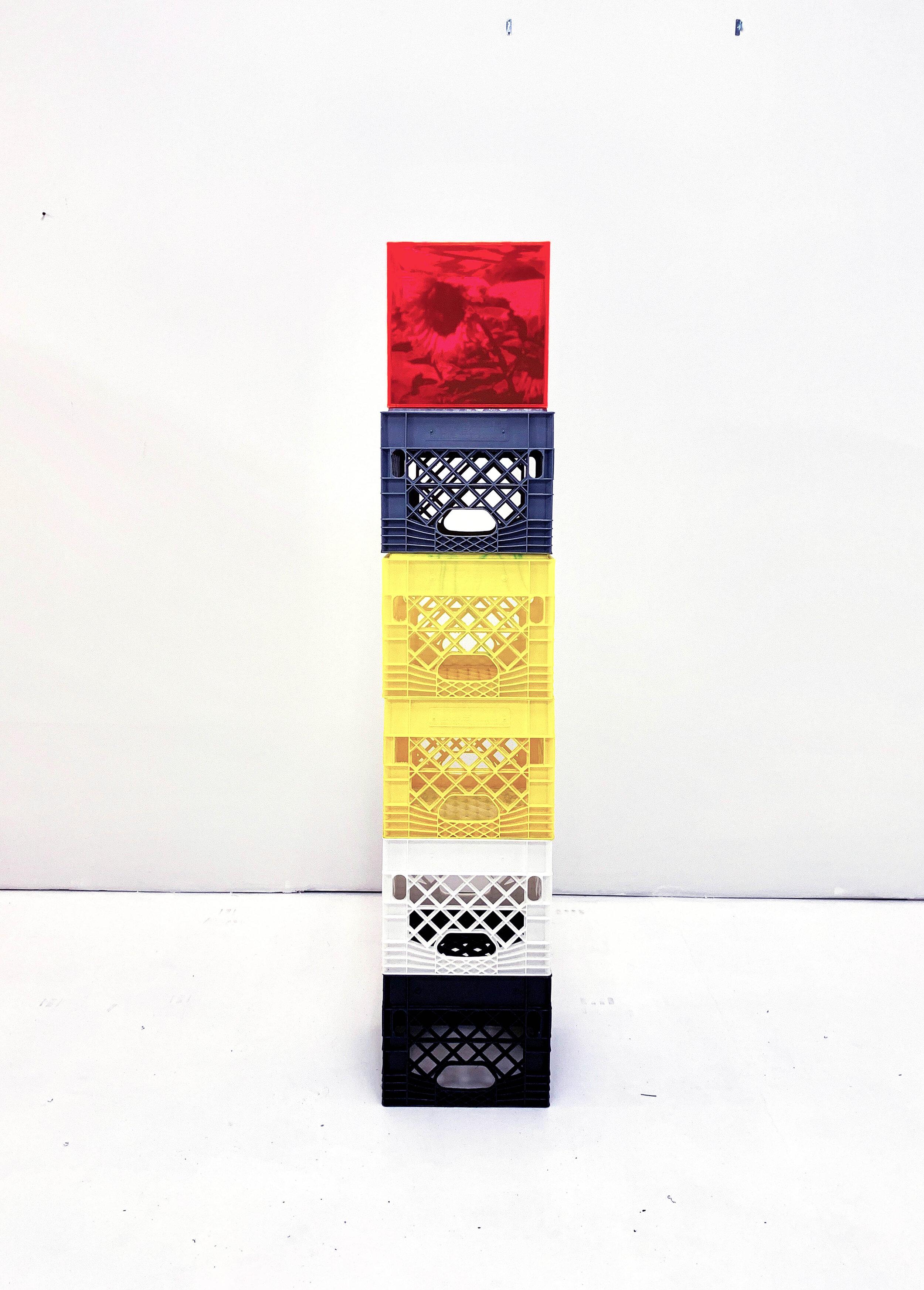 2_Bauer_Strawberry fields tower_2019_72inx12inx12in_UV ink cast acrylic plexiglass milkcrates.jpg