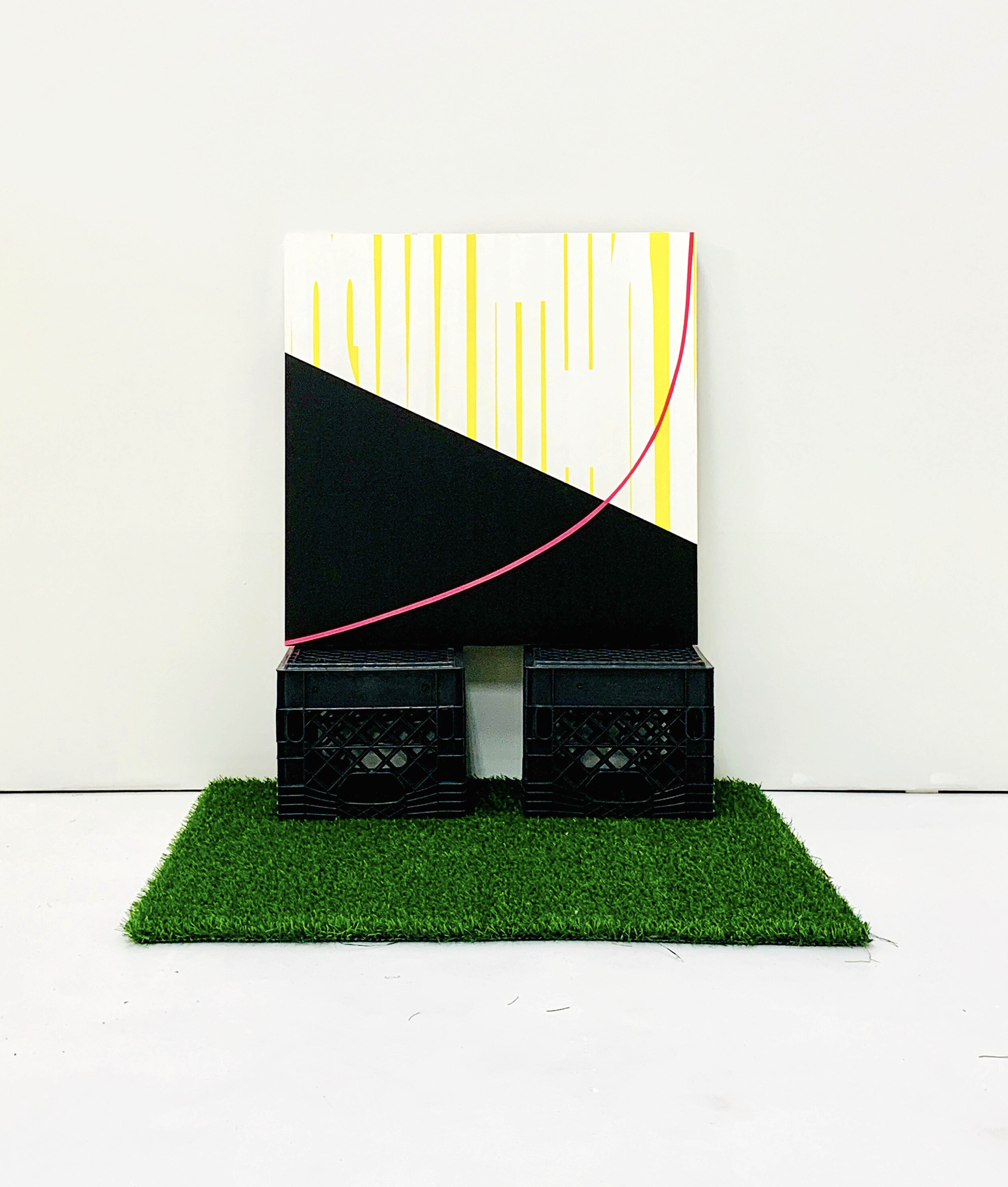 3_Bauer_(right)This Way_2019_acrylic, panel, milk crates, artificial greaa, 40x40x40%22.jpg