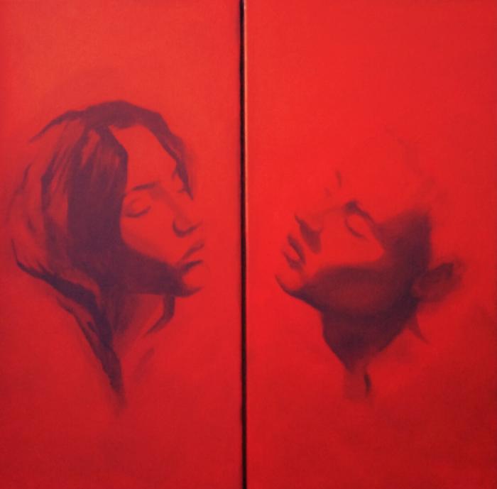Forlorn Lovers - 12 x 24