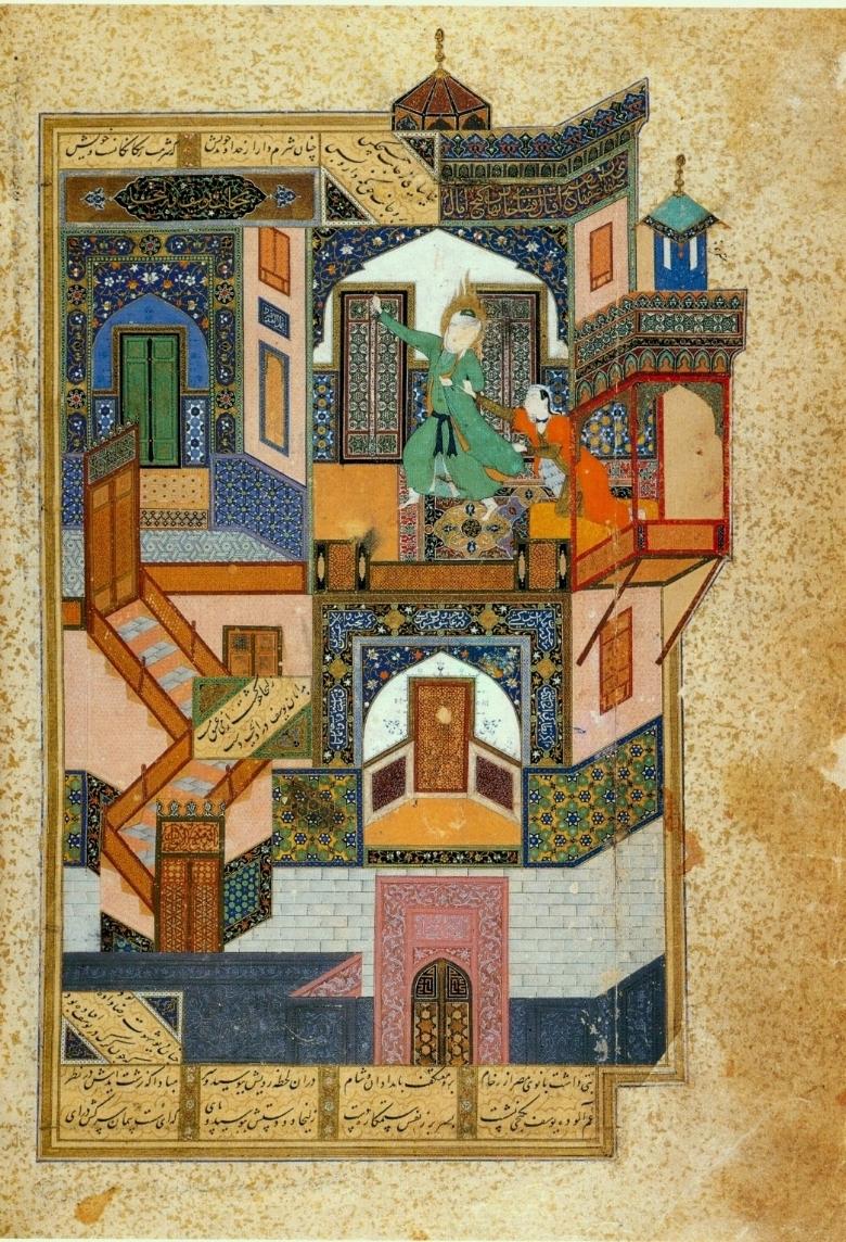 نقاشی یوسف و زلیخا، مکتب هرات، کمال الدین بهزاد