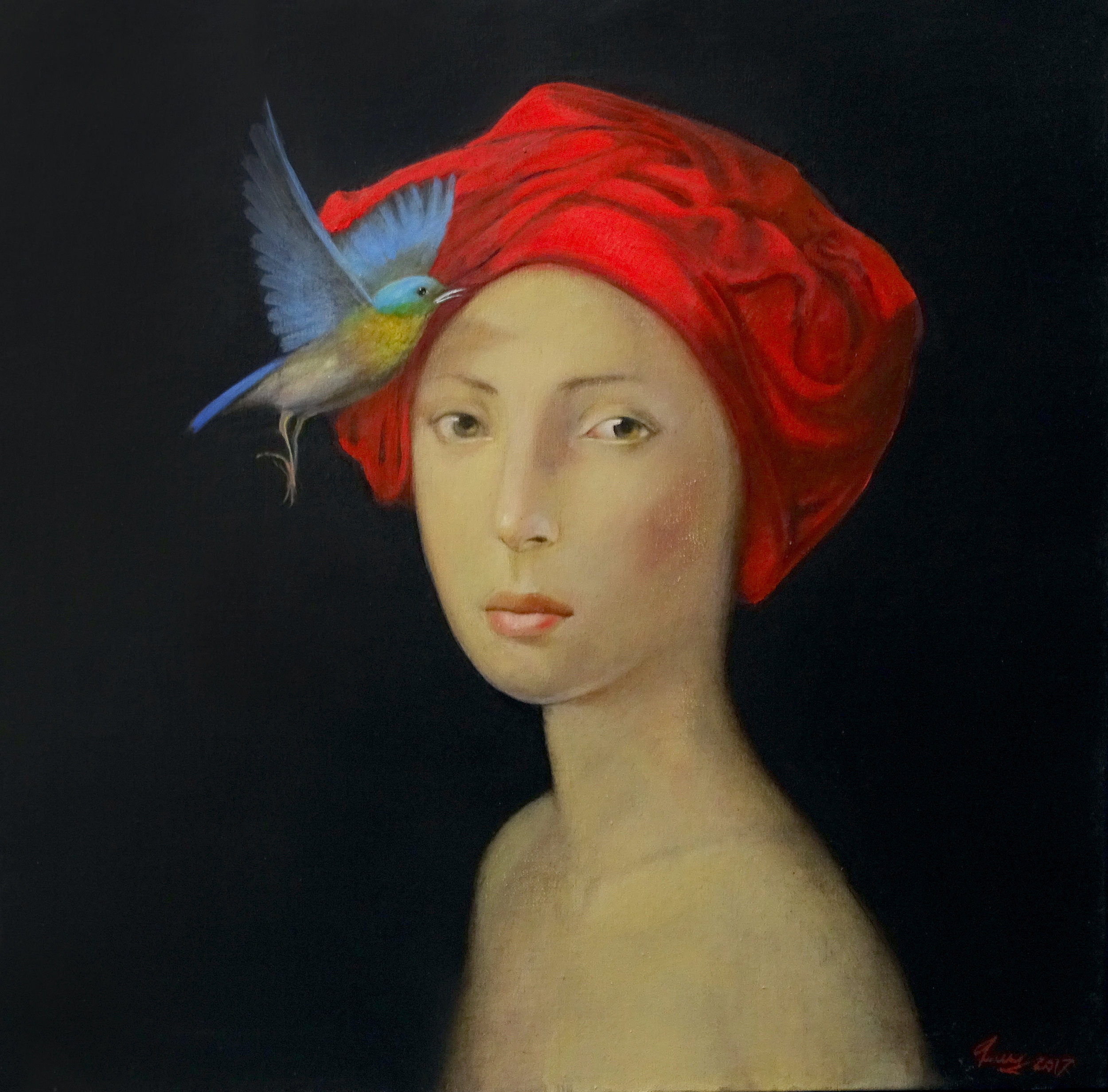 Lady With Kerchief | Oil on Canvas | 50x50cm | 2017
