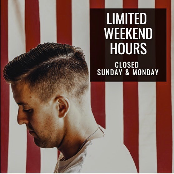 ✖️LIMITED WEEKEND HOURS✖️ Freedom will be closed this Sunday and Monday due to a team outing. We will reopen on Tuesday, August 13. Book to make sure you snag our last open spots. ⇊ freedombarberco.com