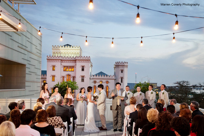 Shaw Center Rooftop Wedding Baton Rouge