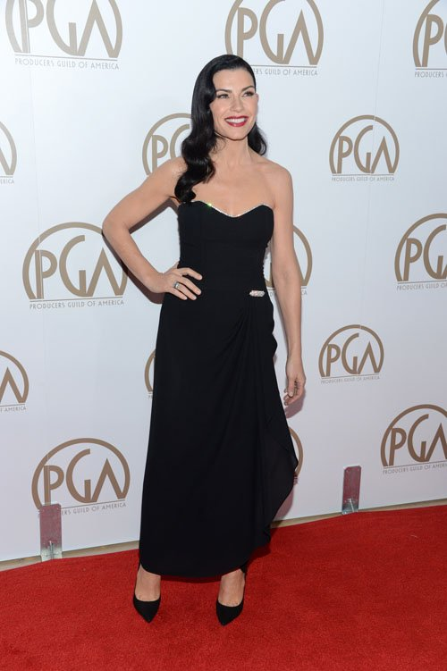 JULIANNA MARGULIES in Vintage LILLIE RUBIN from ALEXANDRA NEW YORK - Red Carpet, PRODUCERS GUILD AWARDS, Beverly Hills, 2013