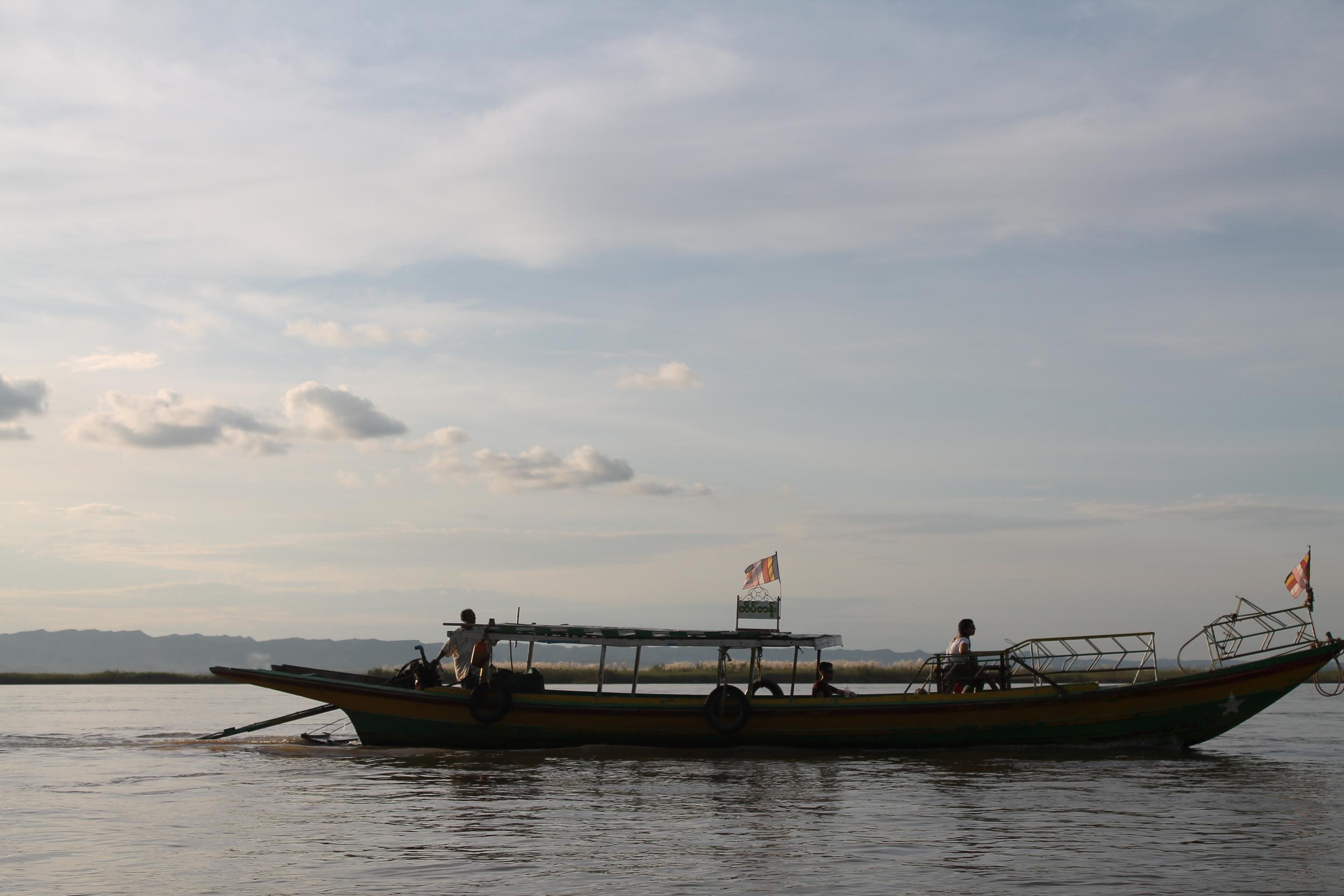 Sunset cruises along the Irrawaddy River