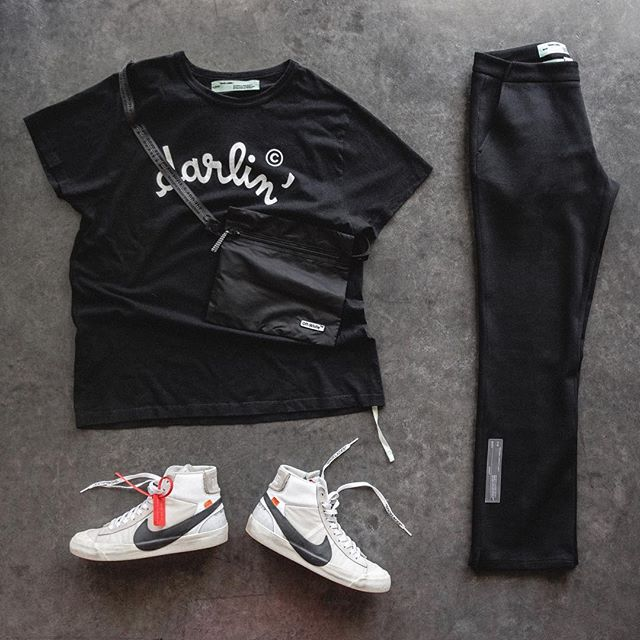 C/o @virgilabloh #OutfitGrid #OffWhite Tee, Trousers, & Bag #Nike x #OffWhite Sneakers @OutfitGrid @DennisTodisco . . . . #offwhitecovirgilabloh #virgilabloh #offwhiteblazer #nike #af1 #wdywt #onthefloor #hypebeaststyle