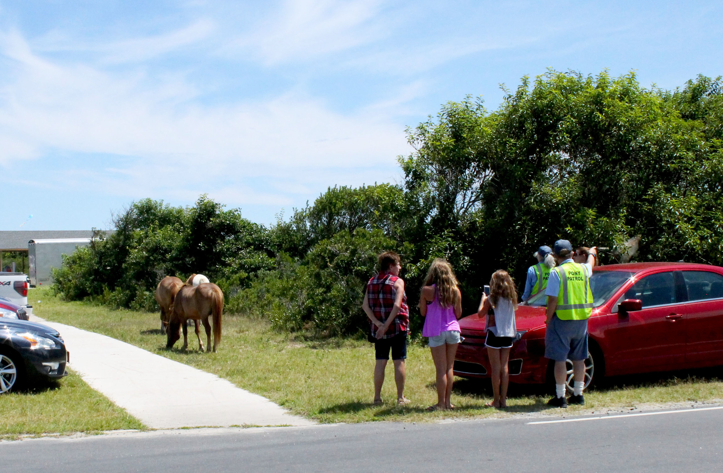 Pony patrol protecting the horses and people