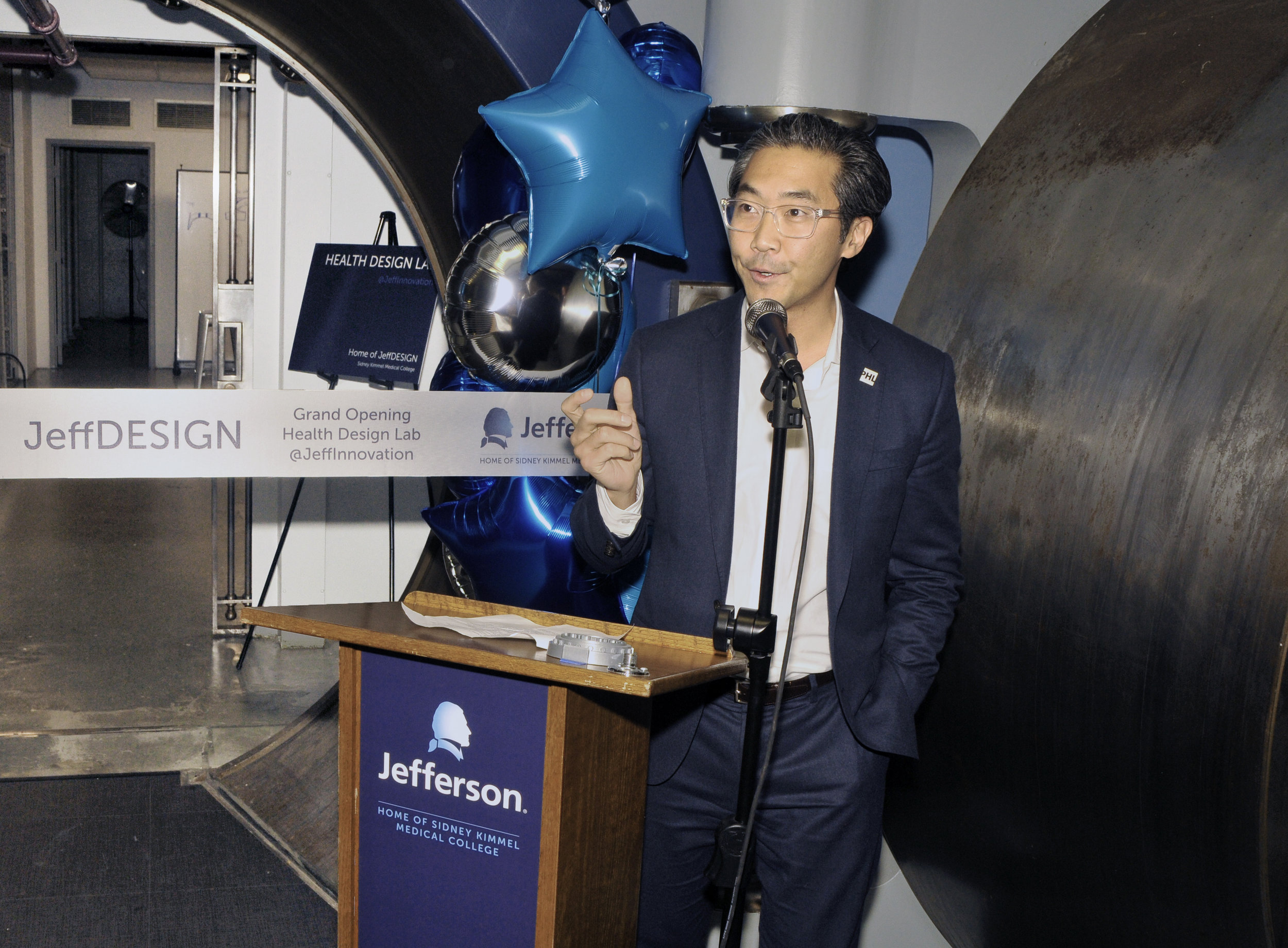 Opening Night! - On opening night, Dr. Ku spoke about the exciting work that the students of JeffDESIGN have been doing since the program began and how the new space will help accelerate innovation and grass roots change in healthcare.