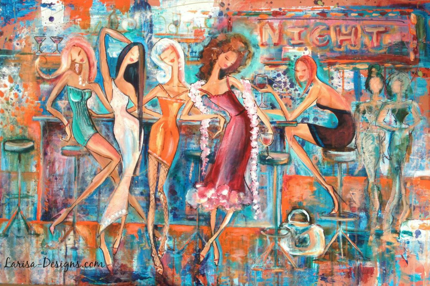 Girls Night Out~Mary Lou 24X36 Sold