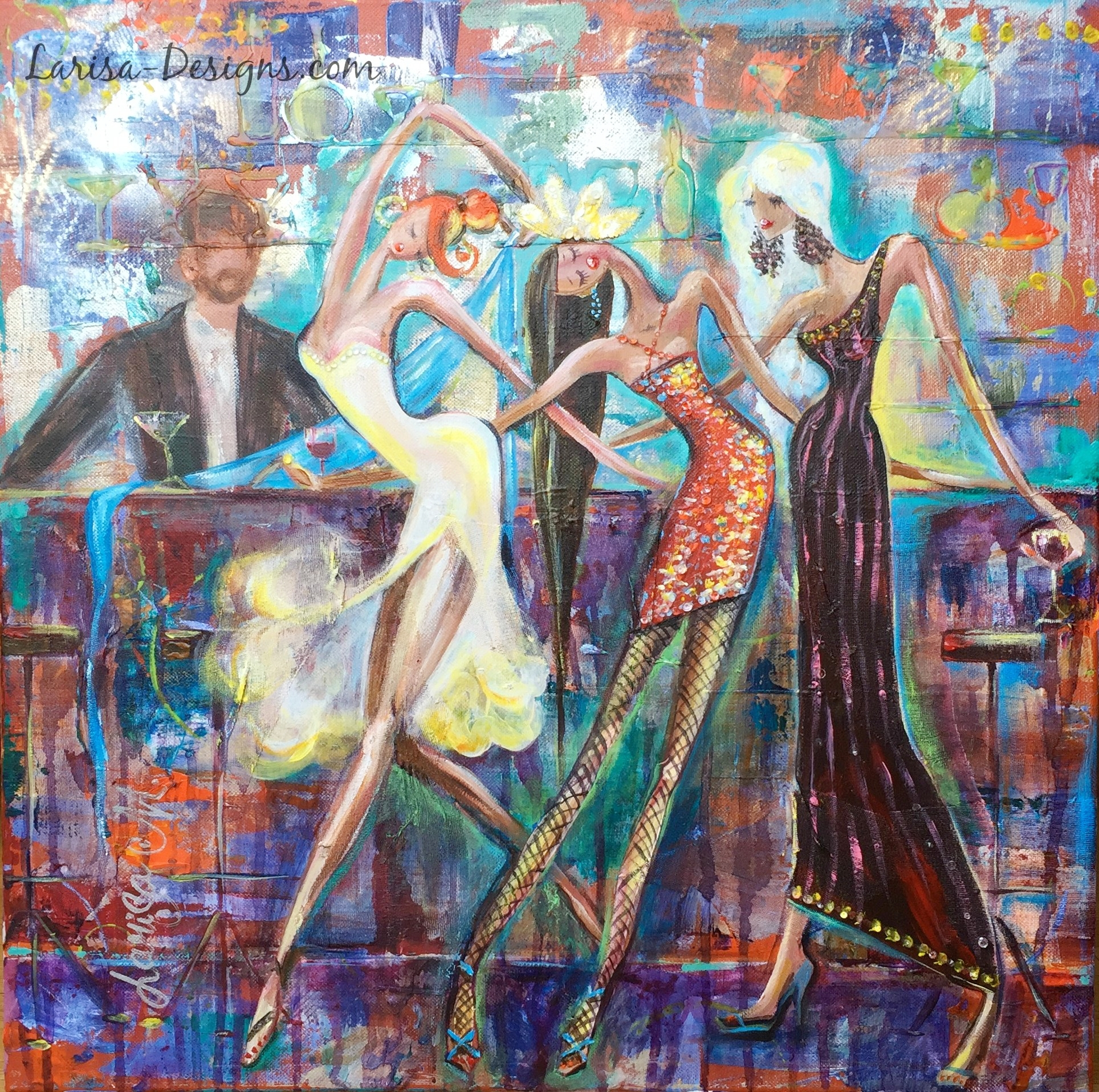 Girls Night Out~Michelle 20X20 SOLD