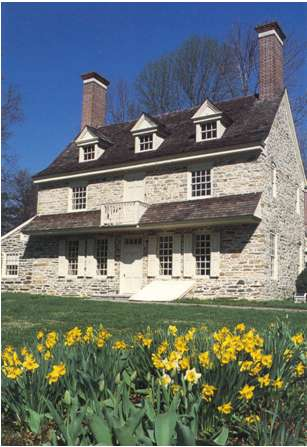 Harriton, the gracious farmstead to which the Thomsons retired. He practiced crop rotation, then a novelty, and for nearly 30 years kept a daily journal recording weather conditions and progress on the farm.  (courtesy: Harriton House)