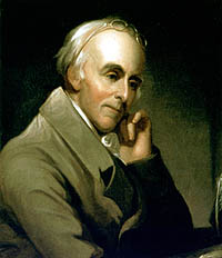 "Dr. Benjamin Rush, the famous physician, was named to chair a three-man drafting committee. ""Benjamin Rush"" painted by Charles Willson Peale, ca. 1818. Courtesy of Independence National Historical Park."